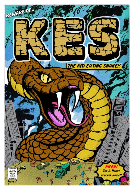 Image of KES - The Kid Eating Snake Print