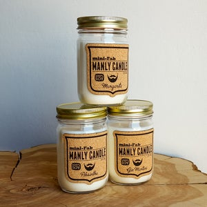 Image of Man Candle - Gentleman Cologne Scent - Manly Natural Soy Candle Hand Poured with Cotton Wick - Gifts