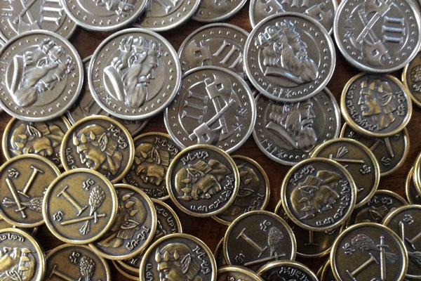 Image of Roll Player Custom Metal Coin Set - Preorder