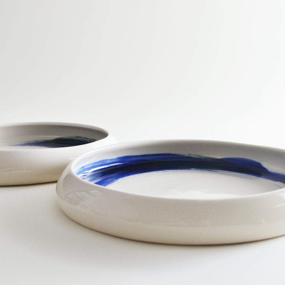Image of Indigo blue porcelain platter