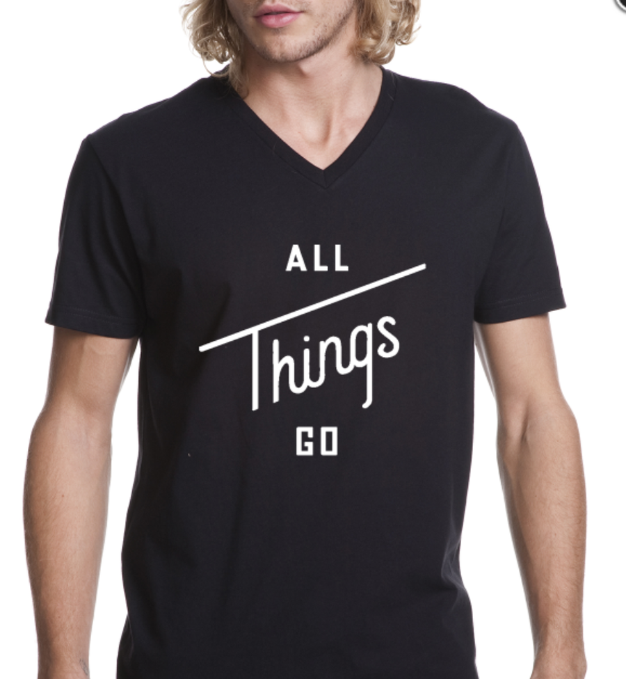 Image of All Things Go Black Tee (V-Neck)