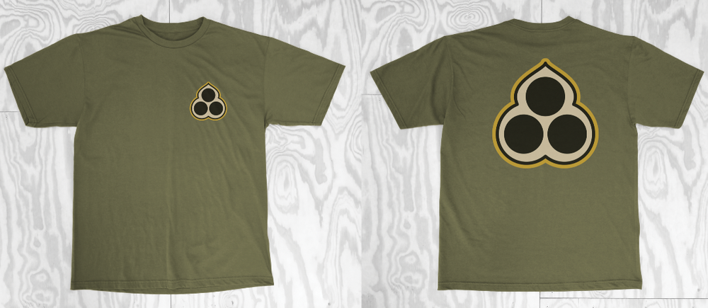 Image of The Shining Skull Logo Tee - Military Green