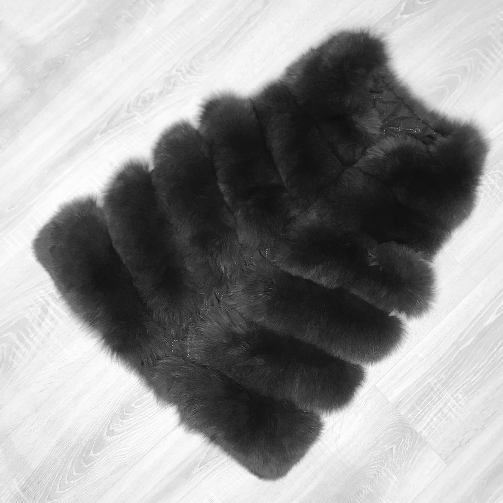 Image of LUXURY DARK GREY FUR GILET