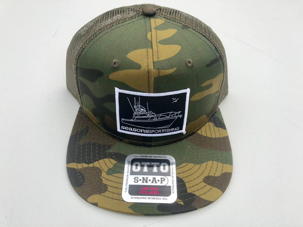 Image of SEASONS - CAMO . GREEN MESH SNAP BACK - MOTHERSHIP