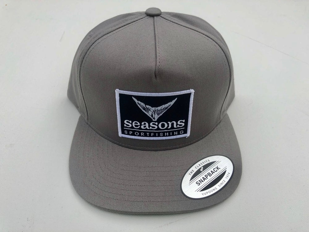 Image of SEASONS - GRAY / GRAY SNAPBACK - TUNA TAIL