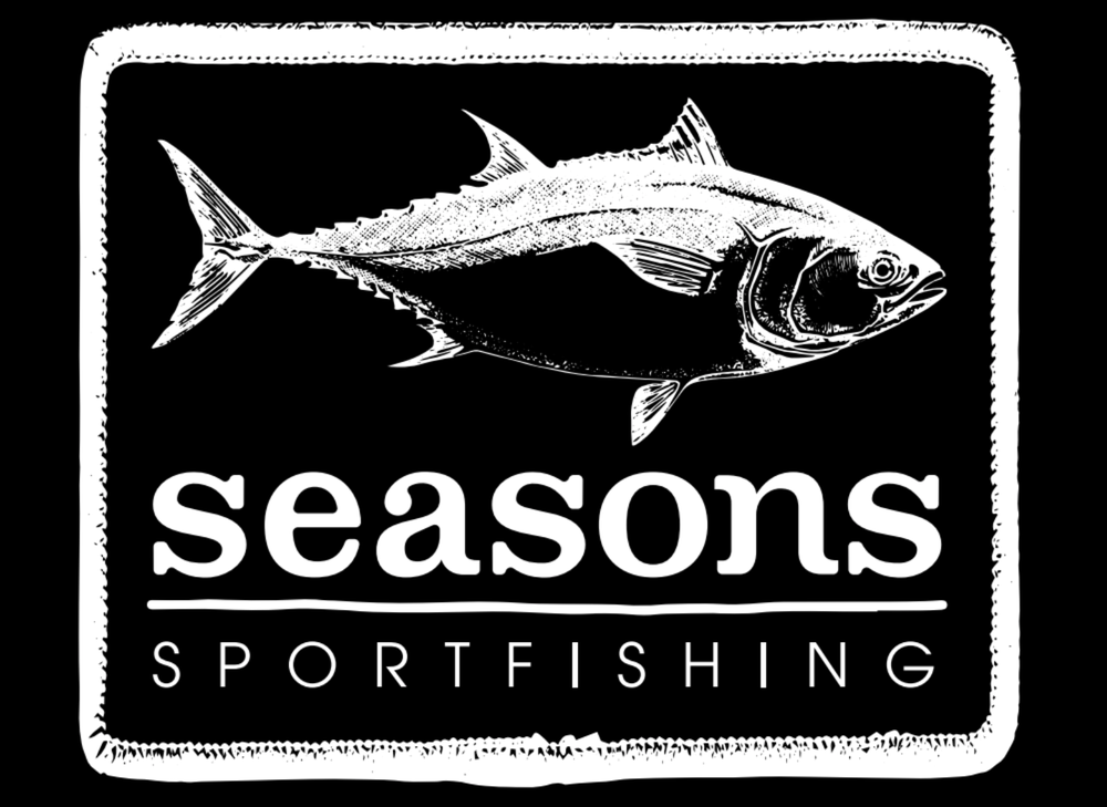 Image of SEASONS - BLACK HOODED SWEATSHIRT - BLUEFIN TUNA