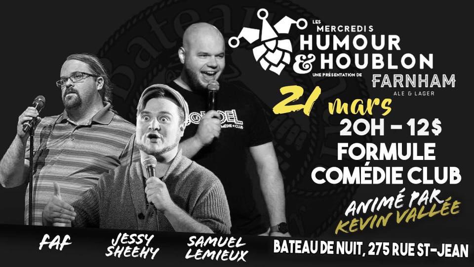 Image of Les Mercredis Humour & Houblon : Formule Comédie Club