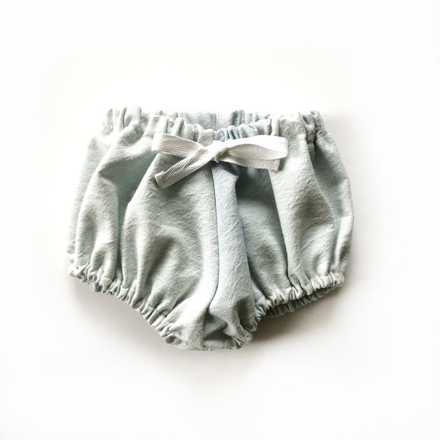 Image of Comfy Bloomers in Distressed Light Denim