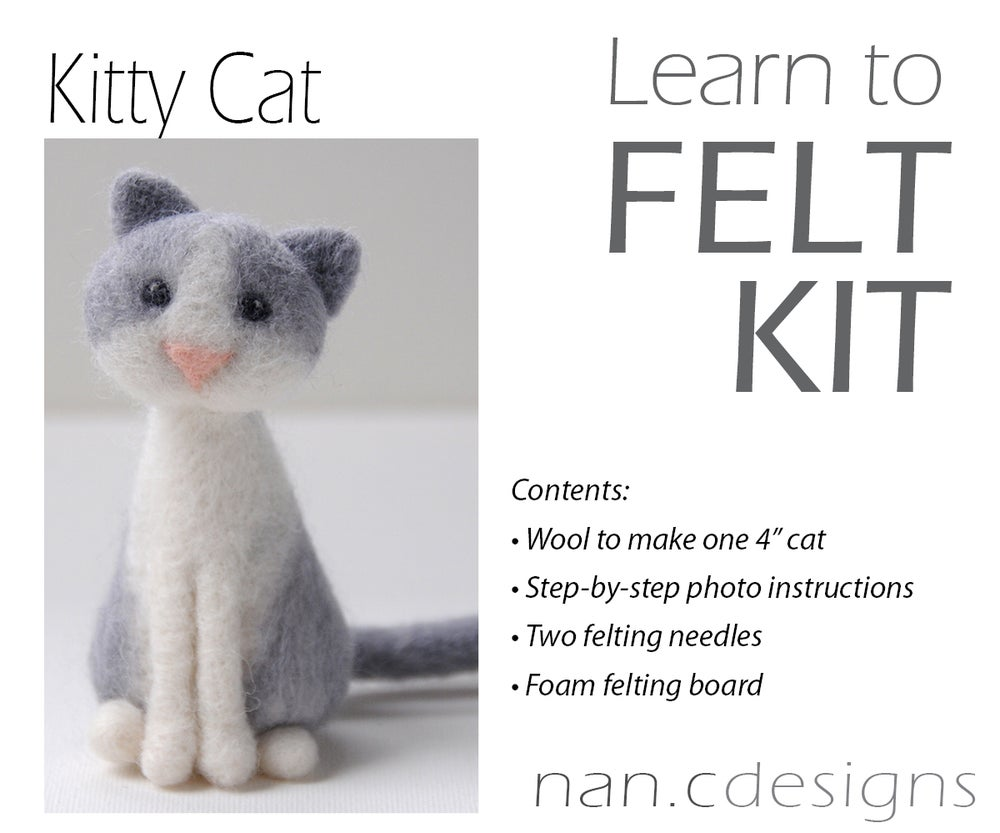 Image of Kitty Cat - Needle Felting Kit