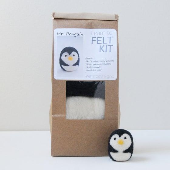 Image of Mr. Penguin - Needle Felting Kit