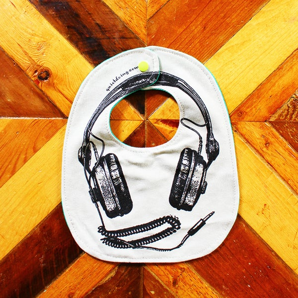 Image of Headphones ) Baby's Bib