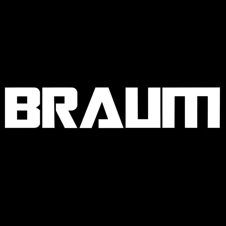"Image of 24"" x 5""   BRAUM Racing Windshield Banner"