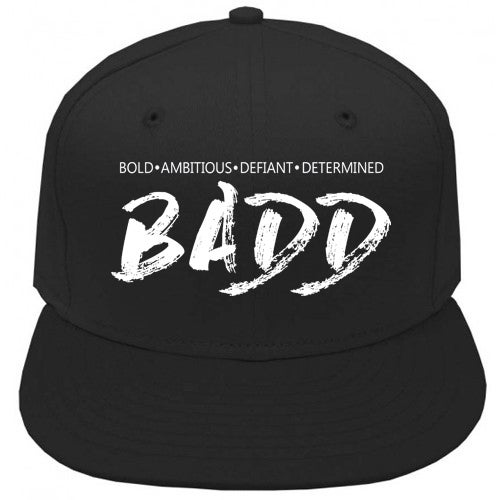 Image of Bold Ambitious Defiant Determined Snapback Black Dad Cap