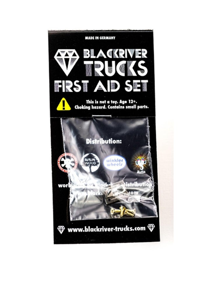 Image of Blackriver Trucks First Aid Single Base Plates Silver