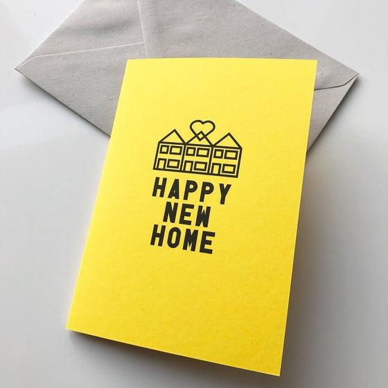 Image of Happy New Home Terrace card by fingsMCR