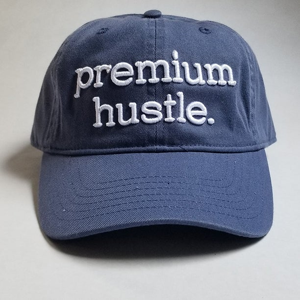Image of Navy Blue Premium Hustle Dad Hats
