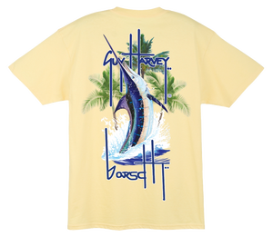 Image of Guy Harvey Pocket Tee (Yellow)