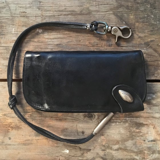 Image of THEDI LEATHERS BIKER WALLET BLACK