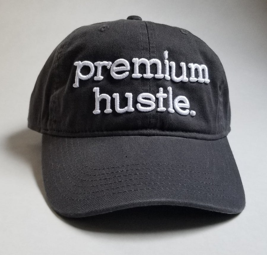 Image of Charcoal Premium Hustle Dad Hats