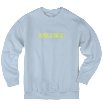 Image of SURF IS DEAD - BOXED IN CREWNECK (BLUE BELL)