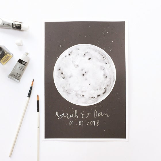 Image of Hand Finished Full Moon Print