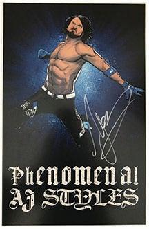 Image of AJ Styles Art Print signed by AJ STYLES