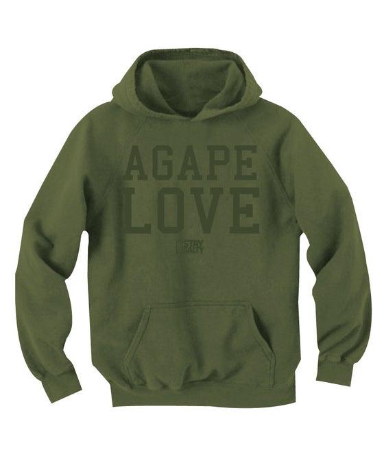 Image of StaySalty513 - Agape Love Hoody (olive/olive)