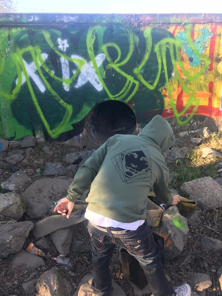 Image of Quick Strike Military Green Japanese Hoodie