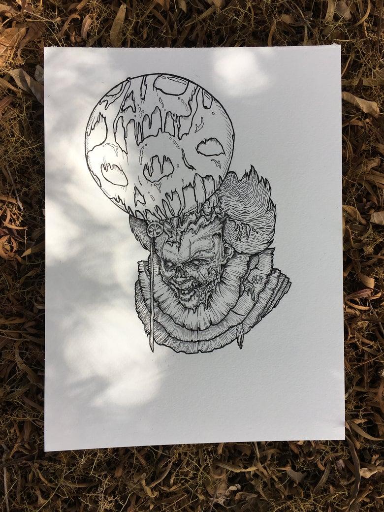 "Image of Original ""It's Undead"" Illustration"
