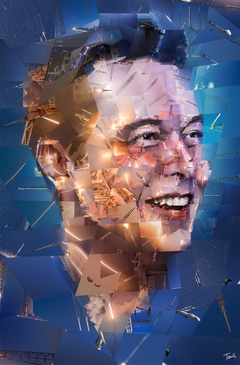 Image of Elon Musk: The rocket man (Limited edition fine art prints)
