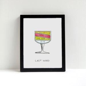 Image of Last Word Cocktail Diagram Print