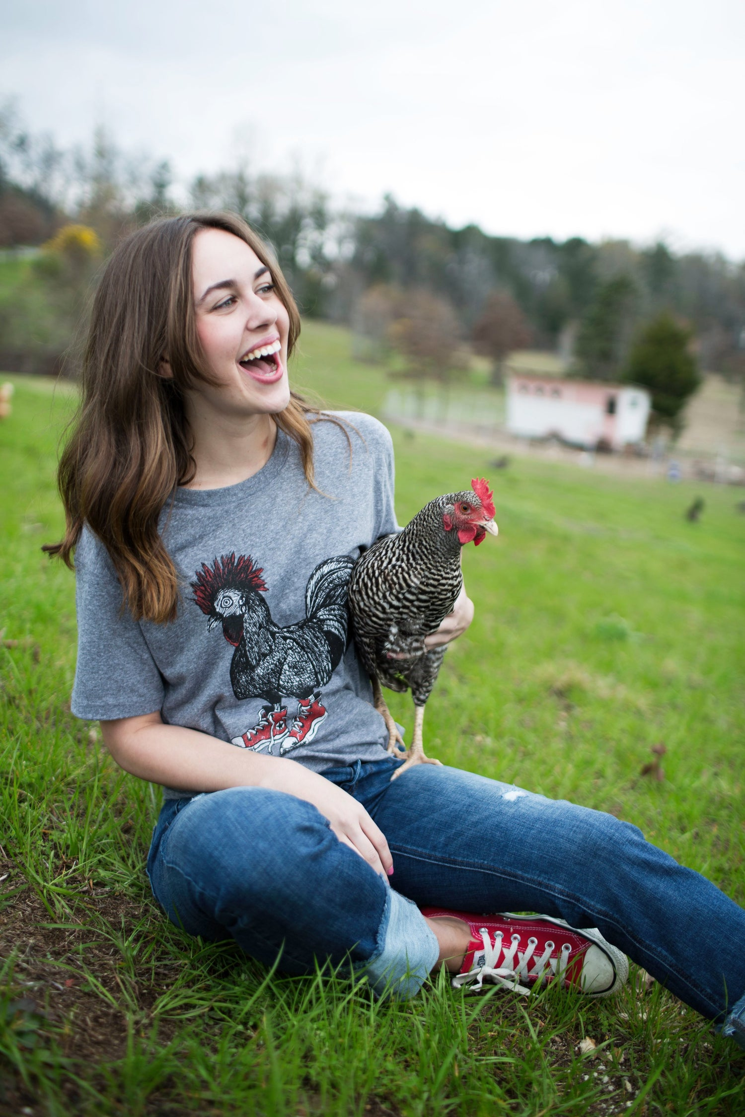 Image of Adult Cluck Taylor Short Sleeve CREW Tee