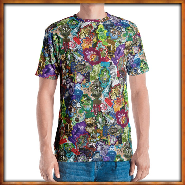 Image of All Over Trees Cut and Sew T-Shurt
