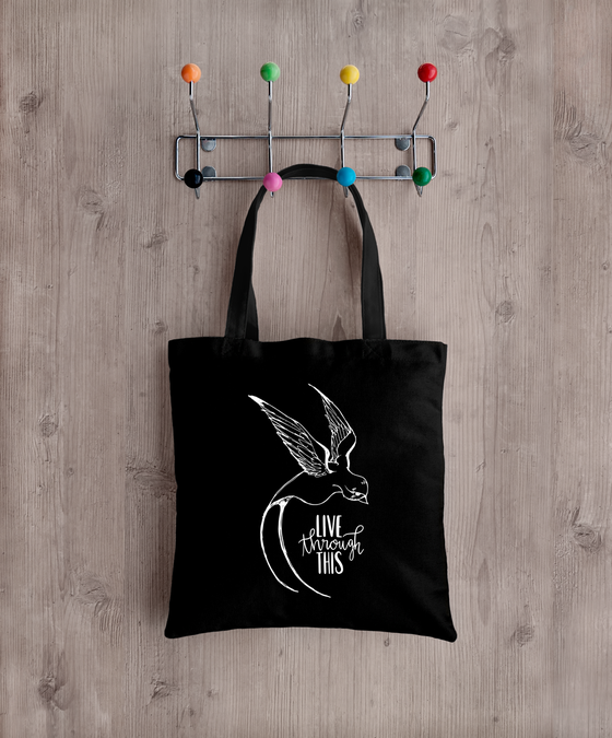 Image of PREORDER: Live Through This Sketch Logo Tote