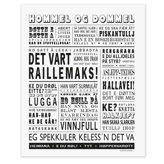 "Image of Plakat ""Det vart raillemaks"" (Mo i Rana)"