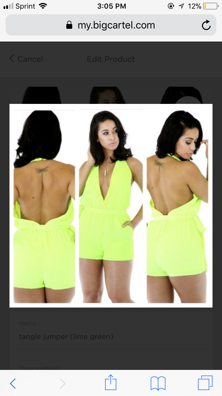 Image of She's romper (green )
