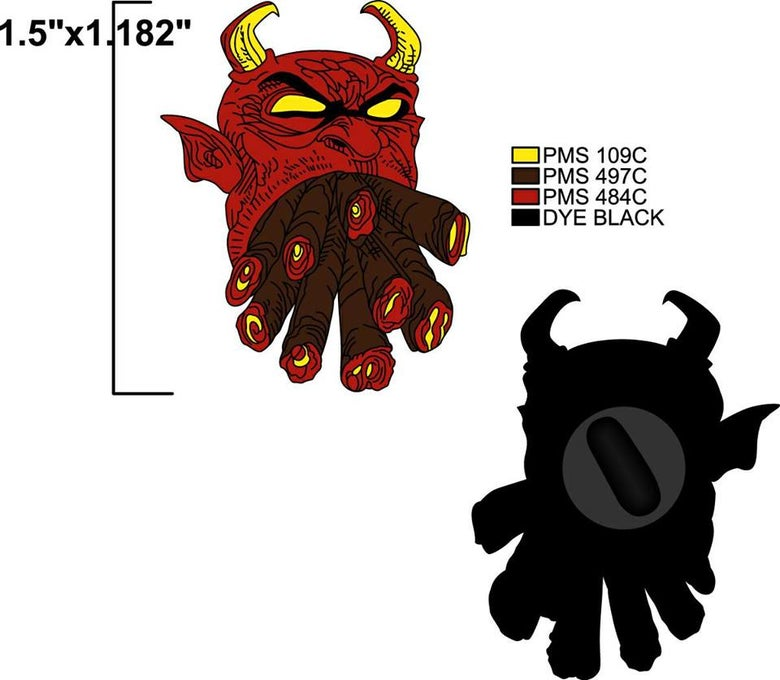 Image of 2 MANY BLUNTS DEVIL ENAMEL PIN