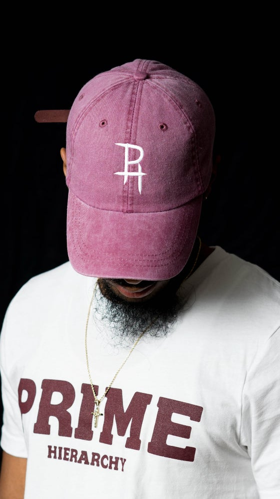 Image of PH dad hat- Faded Burgundy