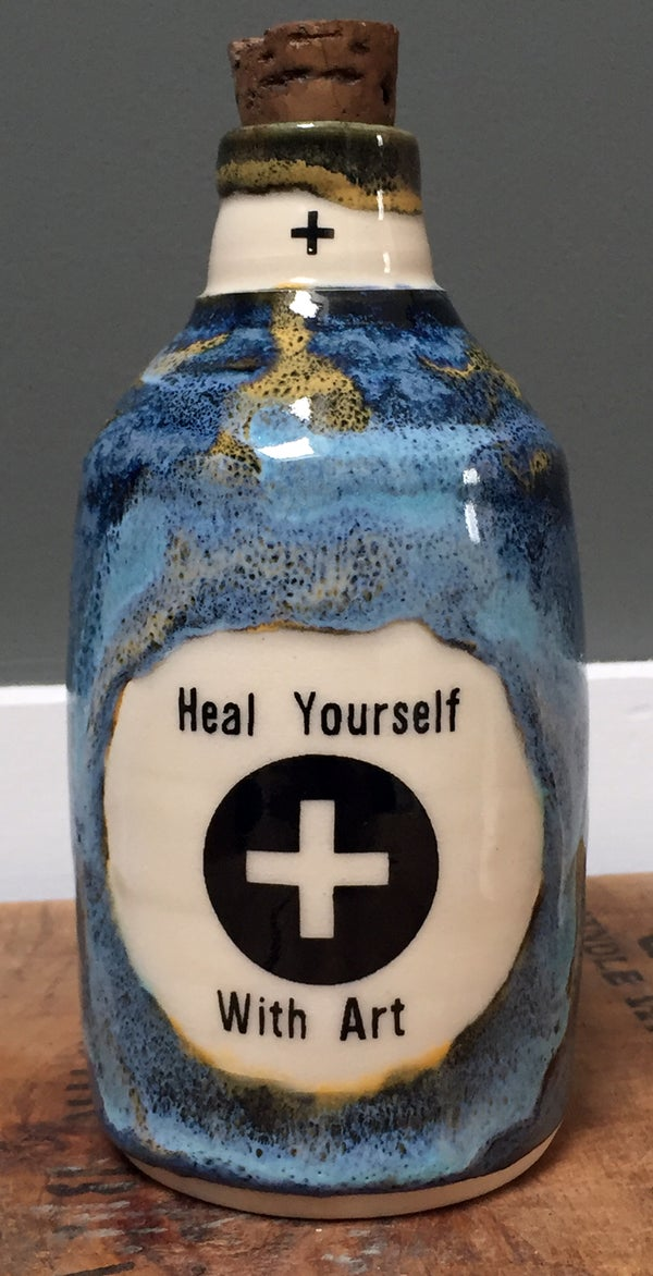 Image of Ceramic Bottle 32 - Heal Yourself