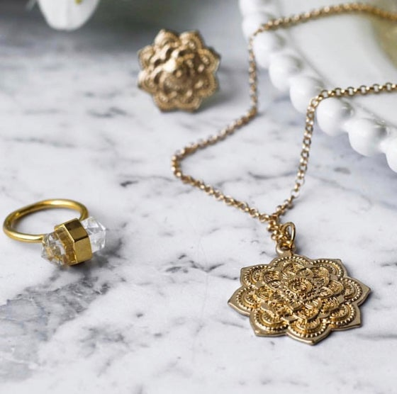 Image of Gold mini mandala necklace & choker