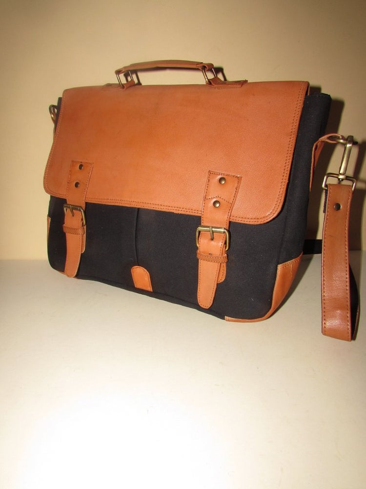 """Image of Canvas & Leather Collection - 15"""" Satchel"""