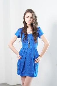 Image of D220S Silk Zipper Dress- Royal Blue