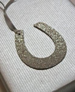 Image of Glitter Tag - Horseshoe