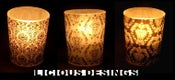 Image of 50 Vellum Votive Candle Holder - Damask (50 FREE candle included)