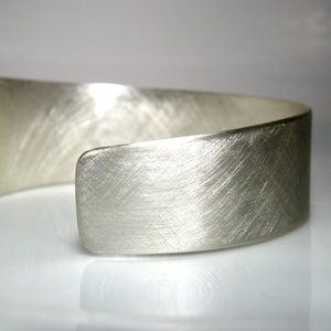 Image of asymmetrical cuff. bracelet. sterling silver.