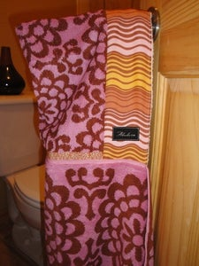 Image of Amy Butler Organic Black Cherry Hooded Towel