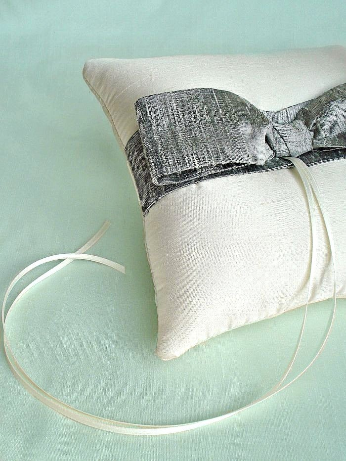 Image of Silk Sash Ring Pillow - More Colors