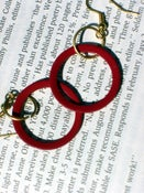 Image of Red Metal Earrings