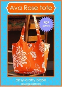 Image of Ava Rose Tote PDF sewing pattern