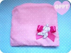 Image of Polka dot poodle purse.